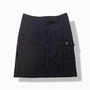 La Belle Pinstripe Mini Skirt